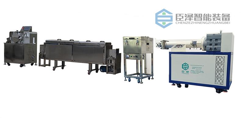 卧式双色硅胶挤出生产线_硅胶管材挤出生产线_高精度硅胶管挤出生产线